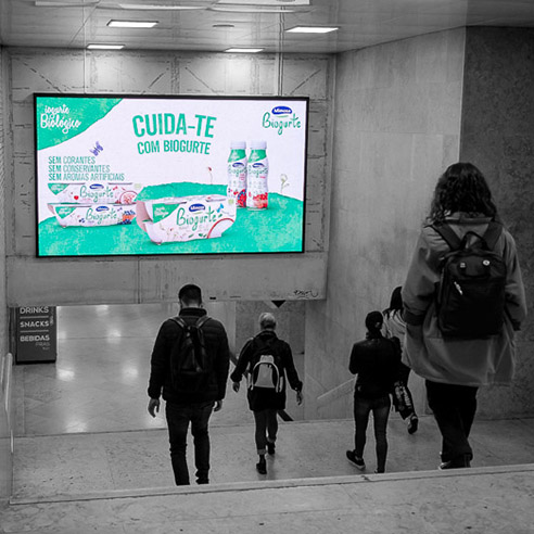 Led Digital Metro Lisboa MOP DOOH